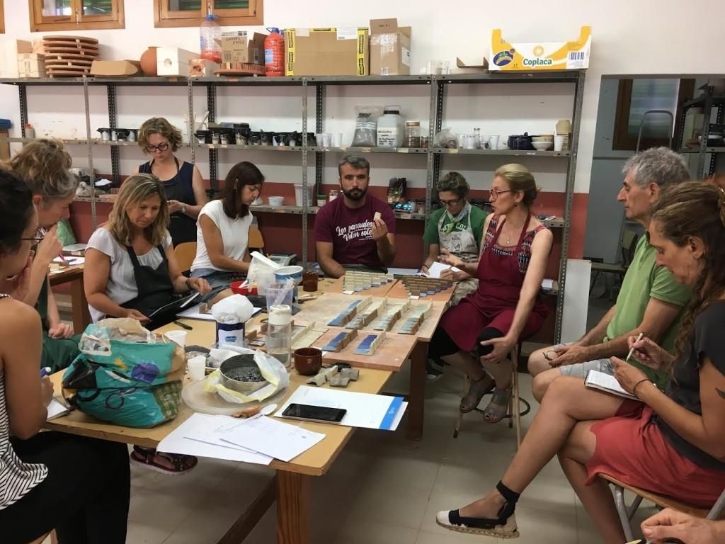 clase escuela de ceramica