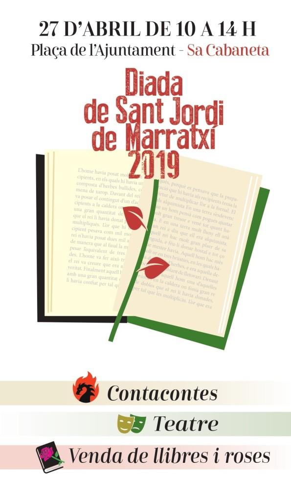 , Marratxí celebra demà dissabte 27 d'abril la Diada de Sant Jordi