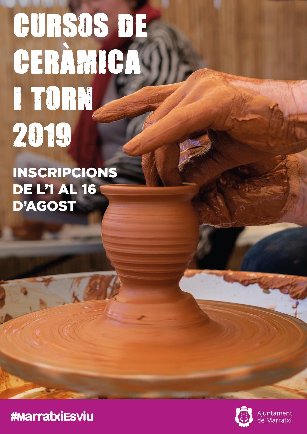 Poster curso de cerámica