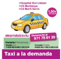 poster taxi a la demanda