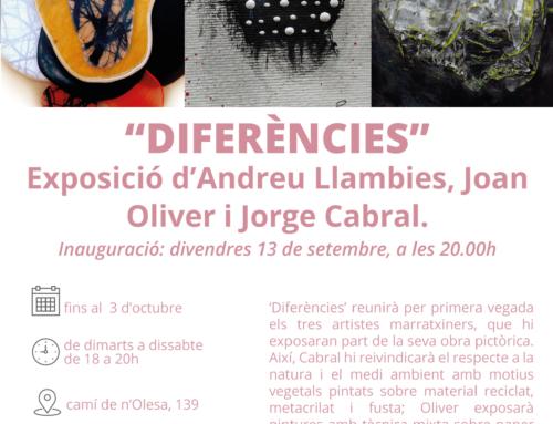 Los artistas locales Andreu Llambies, Joan Oliver y Jorge Cabral muestran su obra pictórica en la exposición 'Diferències', en s'Escorxador