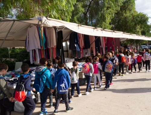 Los alumnos de Primaria participan en un proyecto de familiarizacion con el mercado y el producto local