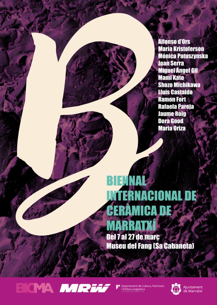 Poster Biennal Internacional de cerámica de Marratxí. Del 7 al 27 de MARÇ