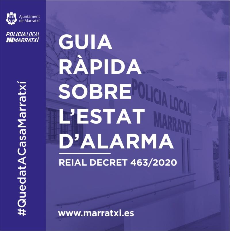 , Consulta la Guía rápida de la Policía Local sobre el Real Decreto del estado de alarma