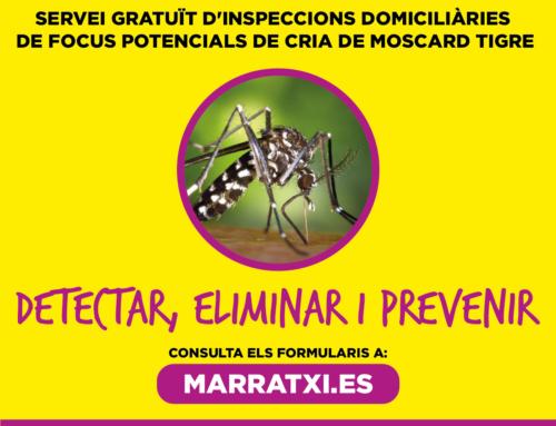 Comença la campanya de detecció de focus de moscard tigre a domicili