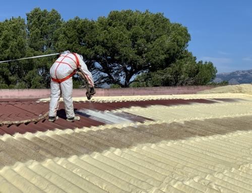 Iniciadas las tareas de impermeabilización de la cubierta del pabellón Costa i Llobera dePòrtol