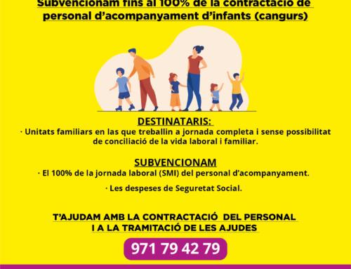 El Ayuntamiento subvencionara la contratación de personal de acompañamiento de niños a las familias con hijos menores de seis años que no puedan conciliar