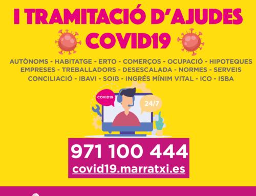 El Ayuntamiento de Marratxí pone en marcha un punto de información y tramitación de ayudas motivadas por la COVID-19