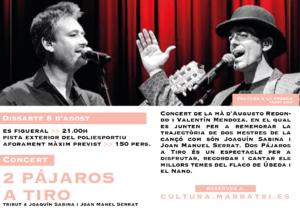 2 PÁJAROS A TIRO - Cultura a la Fresca 2020 @ Es Figueral