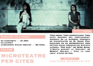MICROTEATRE PER CITES - Cultura a la Fresca 2020 @ Sa Cabaneta