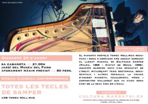 LES TECLES DE SAMPER, AMB TOMEU MOLL-MAS - Cultura a la Fresca 2020 @ Sa Cabaneta