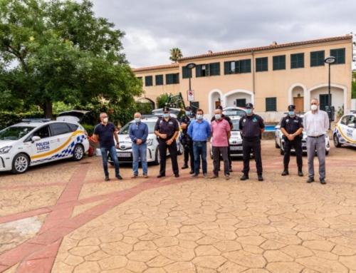 L'Ajuntament de Marratxí presenta la nova flota de vehicles elèctrics i híbrids per a la Policia Local