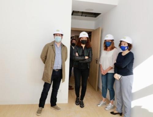 El batle de Marratxí i la presidenta del Govern visiten les obres de la nova residència de Pòrtol que obrirà a finals de 2021
