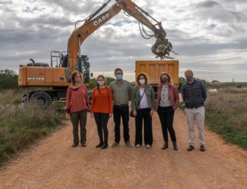 L'Ajuntament de Marratxí i el Consell de Mallorca comencen a netejar l'abocador il·legal del Camí dels Morts