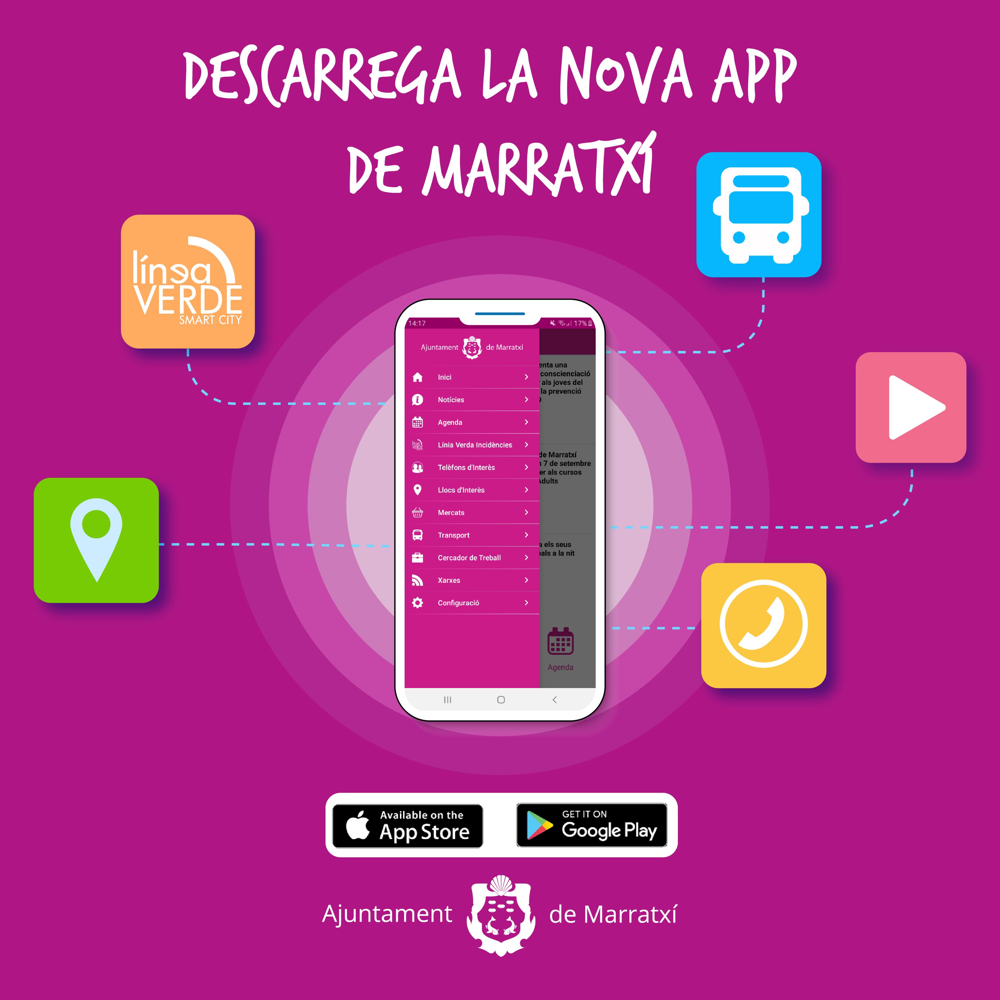 smartphone con app linia verda