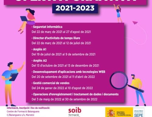 L'Ajuntament de Marratxí inicia un programa formatiu per al període 2021-2023