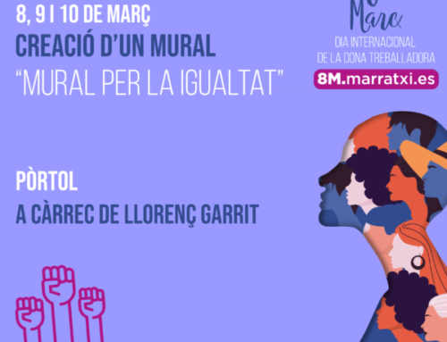 Llorenç Garrit pintarà durant tres dies a Pòrtol el 'Mural per la Igualtat' amb motiu del 8M