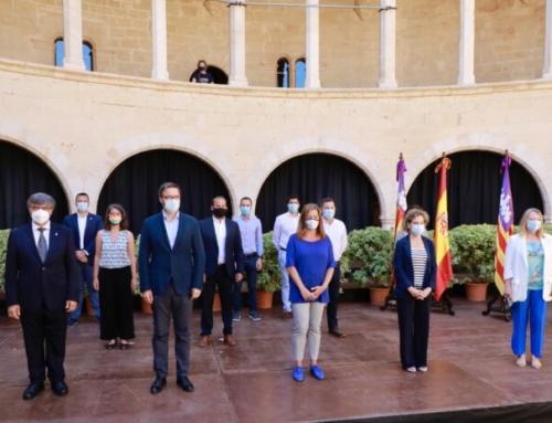 Miquel Cabot assisteix junt a Armengol i Hila a la firma de la nova depuradora de Palma que suposarà una millora per a Marratxí